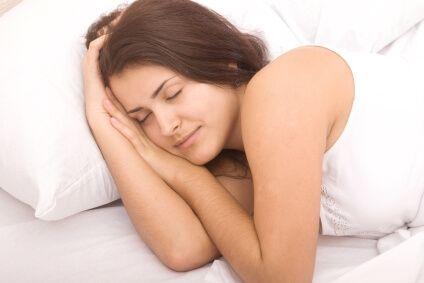 close up shot of beautiful sleeping woman