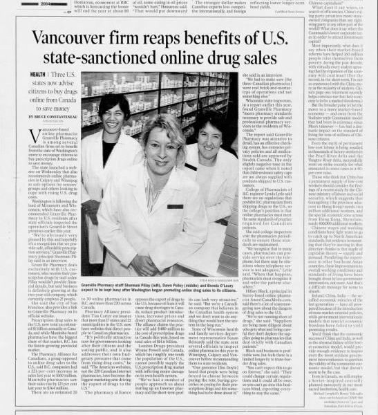 Vancouver firm reaps benefits of U.S. state-sanctioned online drug sales